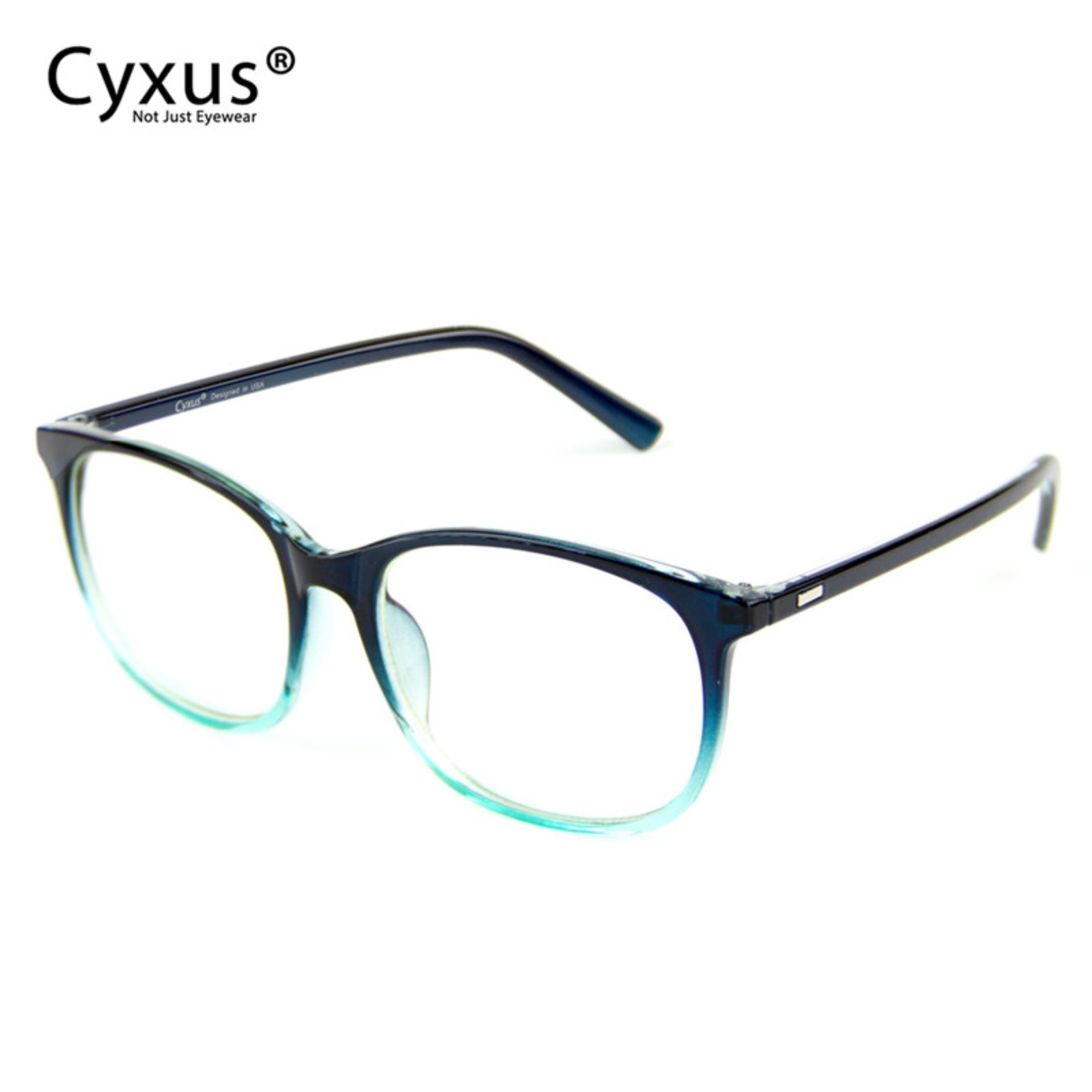 Cyxus Blue Light Blocking Gaming Computer Glasses Anti Eyestrain Large Frame Unisex Eyewear Gradient Lake Blue Brown Leopard) Cyxus Discount