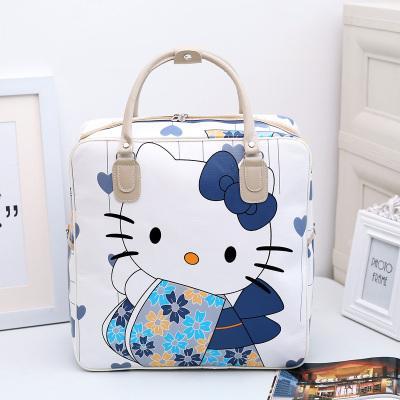 Tas Perjalanan Portabel Berkapasitas Besar Kartun Kulit Pu Fesyen Korea Tahan Air, Tas Bagasi Perjalanan Wanita, Tas Perjalanan Jarak Pendek By Koleksi Taobao.
