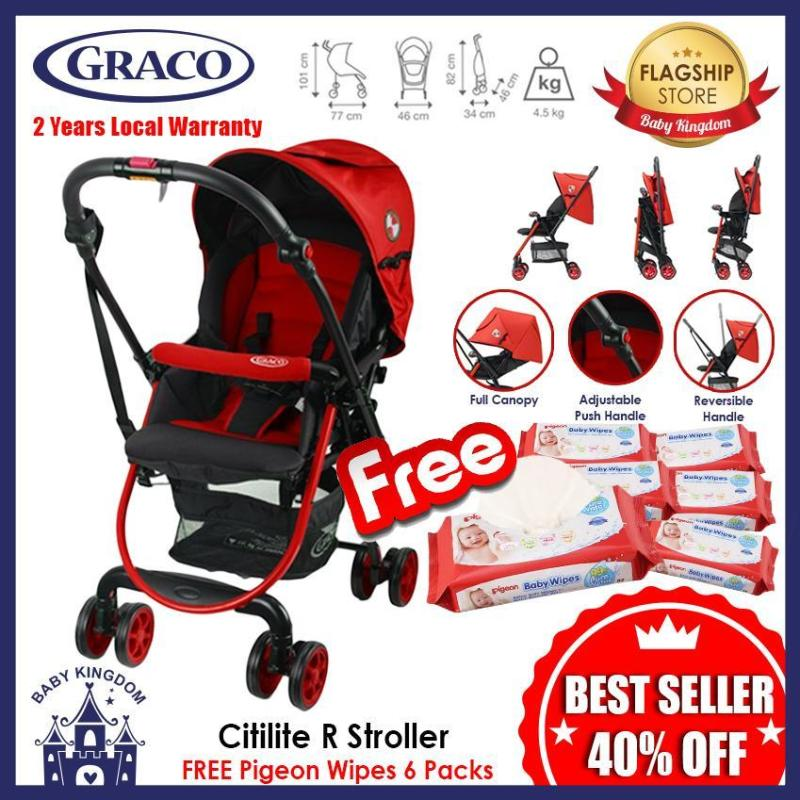 Graco CitiLite R Stroller  - Local Warranty FREE Pigeon Wipes 6 Packs Singapore