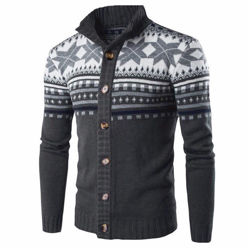 Male Christmas Cardigan Sweater Winter Plus Size Mens Sweaters Long Sleeve Jacket Casual Knitted Sweater Coat Knitwear Intl Best Price