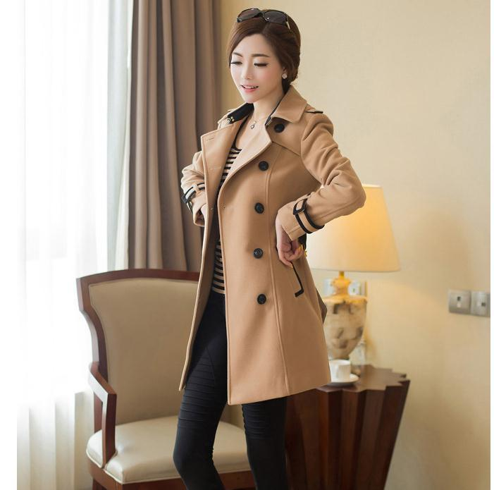 Lbnvre 2018 musim gugur musim dingin model baru kerdil mantel wol baju  wanita Gaya Korea membentuk 8dd2f68689
