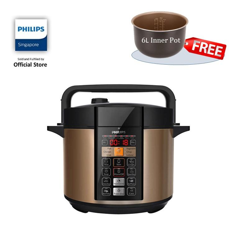 Price Comparisons Free Inner Pot While Stock Last Philips Viva Collection Electric Pressure Cooker 6L Hd2139 62
