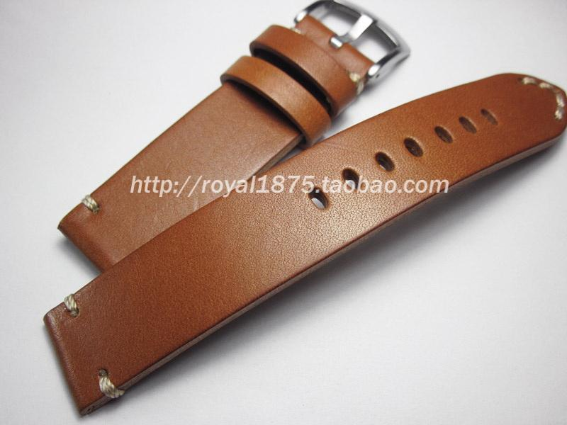 High Quality Handmade Outdoor Mountain Climbing Sports Watch 18mm19mm20mm21mm 22mm Italy Cowhide Leather Watch Strap Malaysia