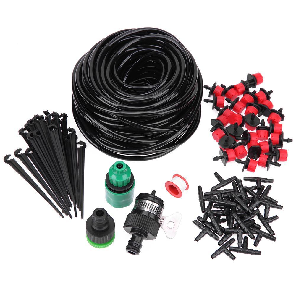 Compare 25M Diy Micro Drip Irrigation System Self Watering Plant Garden Hose Kits Intl