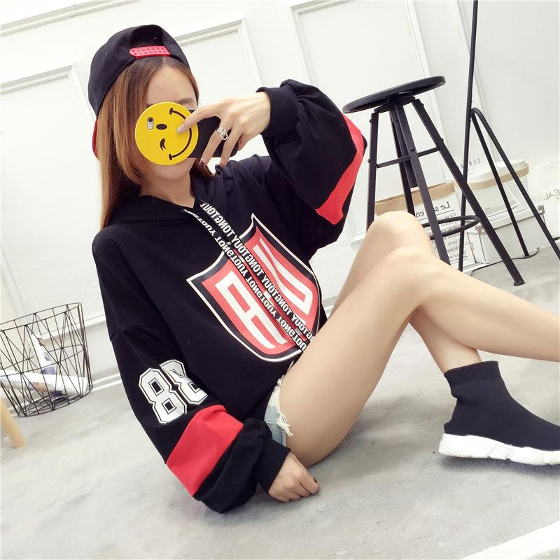 Best Rated Loose Korean Style New Style Students Hooded Hoodie