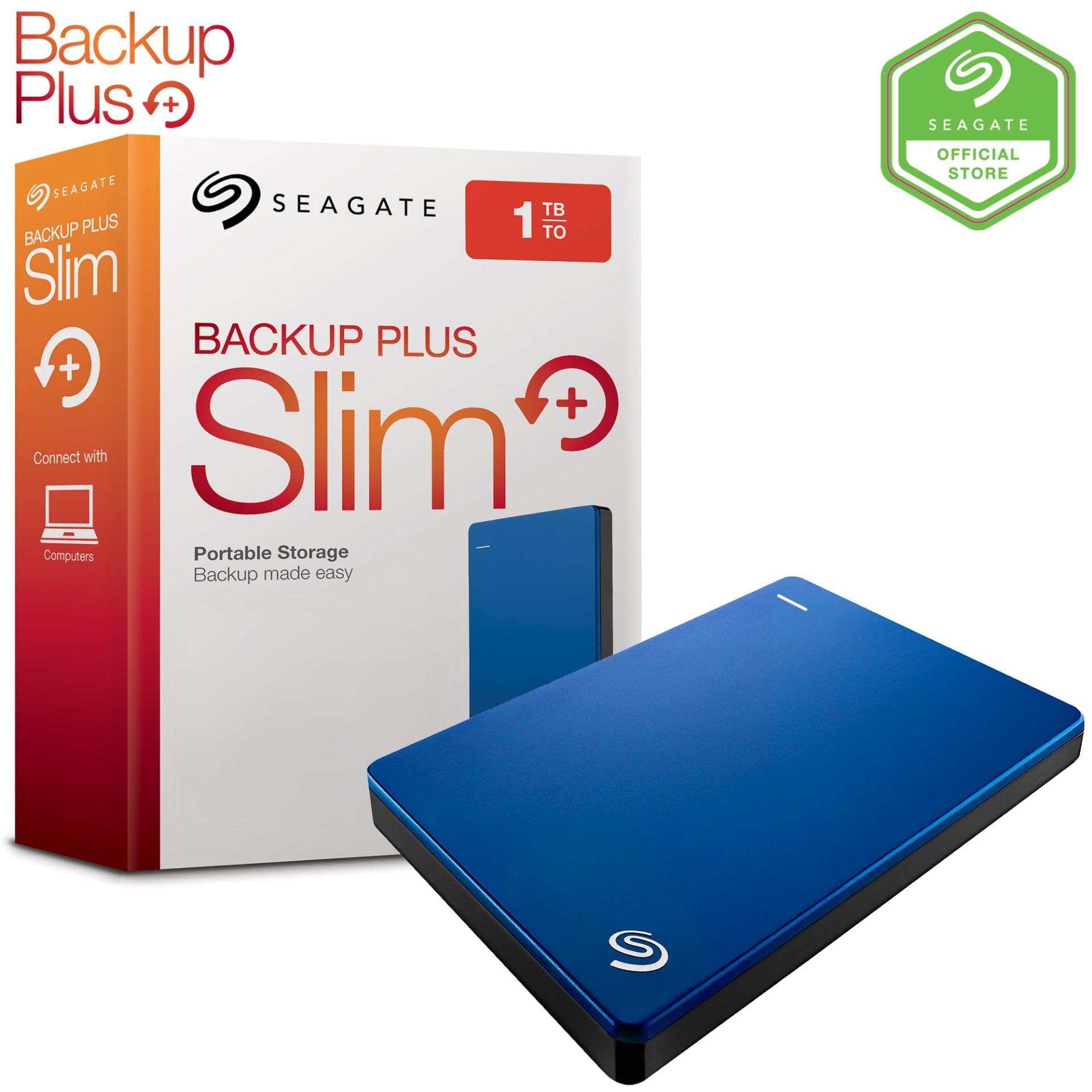 Seagate Backup Plus Slim 500GB SuperSpeed USB 3.0 HDD Portable Hard Drive Silver