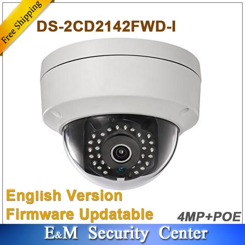 Versi Bahasa Inggris Asli 4MP DS-2CD2142FWD-I Mengganti DS-2CD2132-I CCTV IP WDR Kubah Tetap Kamera Jaringan (6 Mm)-Intl