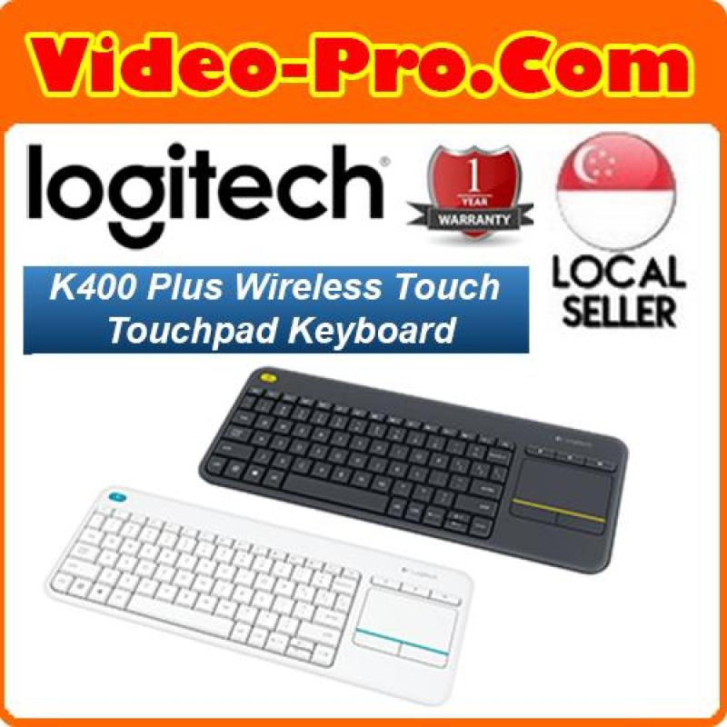 Logitech K400 PLUS Wireless Touch Keyboard with Built-In Touchpad 1 Year Local Warranty Singapore