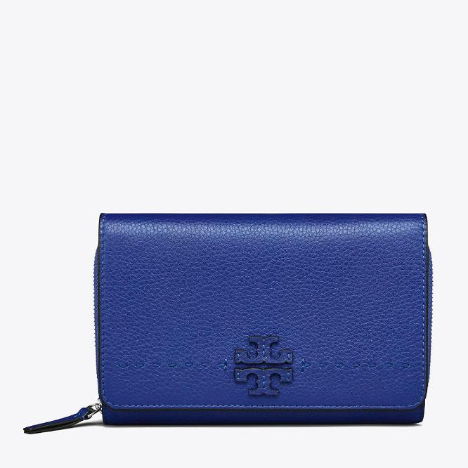 Top 10 Tory Burch Mcgraw Flat Wallet Cross Body Blue