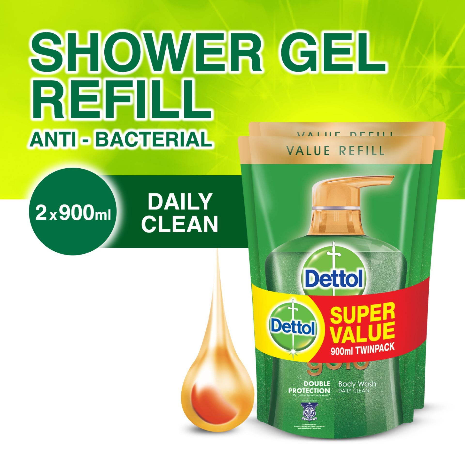 Purchase Dettol Gold Daily Clean Body Wash Refill Pouch Twinpack 900Ml X 2