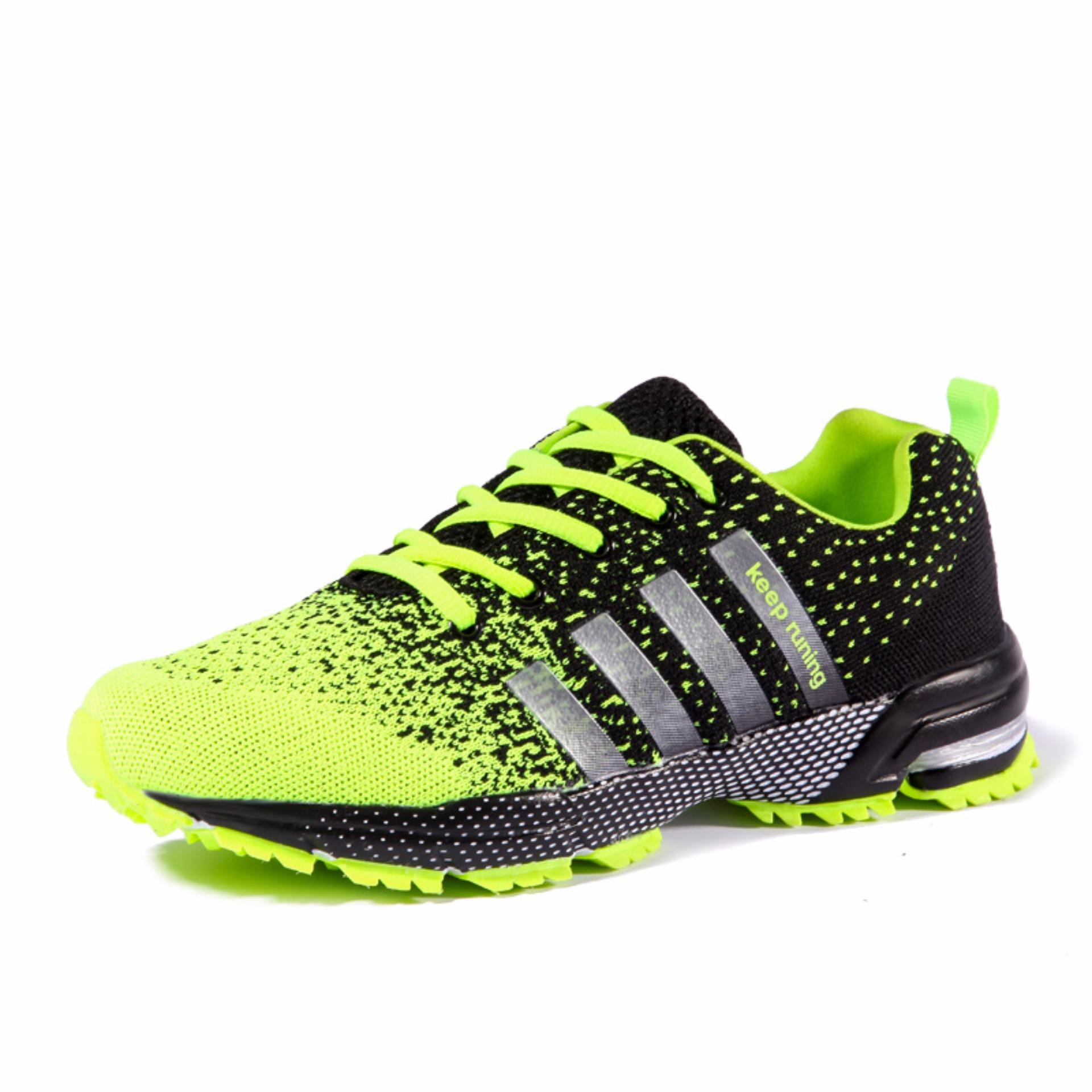 Review Men Fashion Sneakers Casual Running Sports Shoes Green Intl China