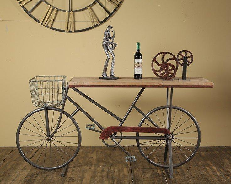 Loft Side Table – Antique Bicycle