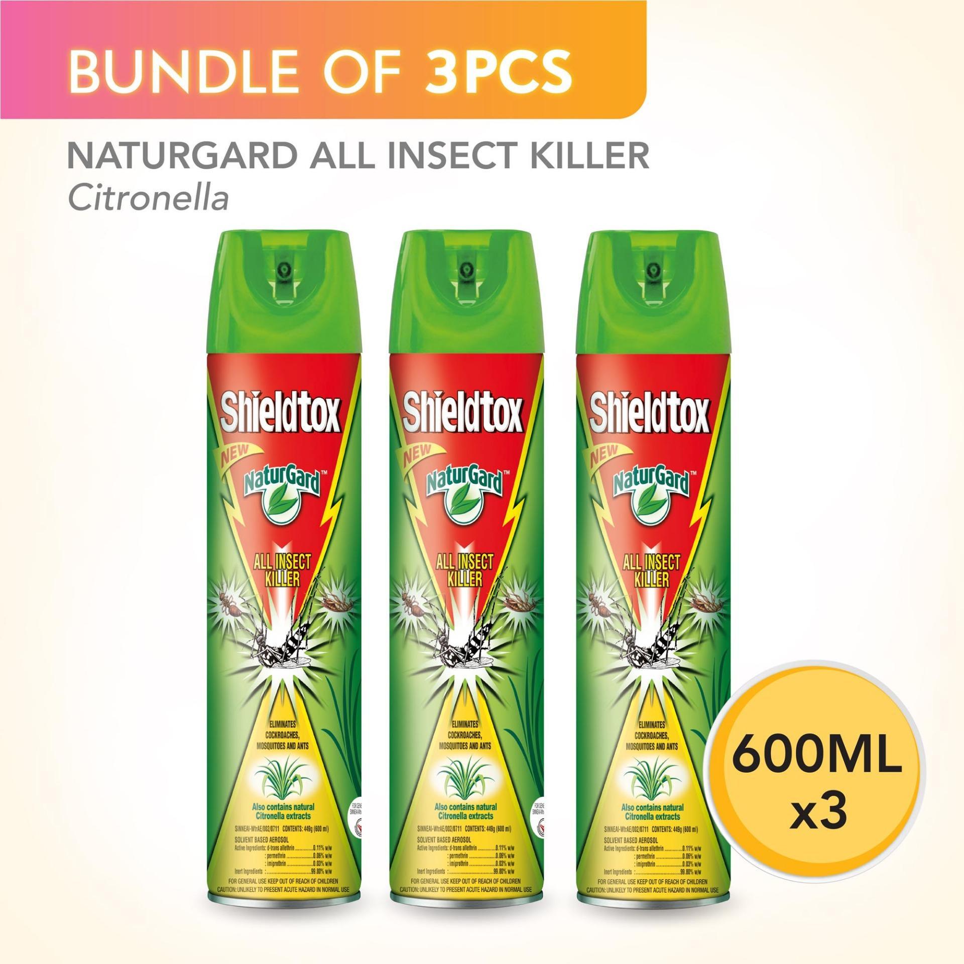 Baygon Multi Insect Killer 300ml X3 Singapone Twin Pack Aerosol Natural Orange 600ml Shieldtox Naturgard All Citronella X 3