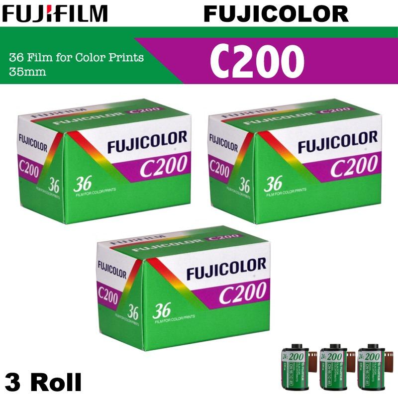 Discount 3 Roll Fujifilm Fujicolor C200 Color Negative 35Mm 135 Roll Film 36 Exposures Fujifilm