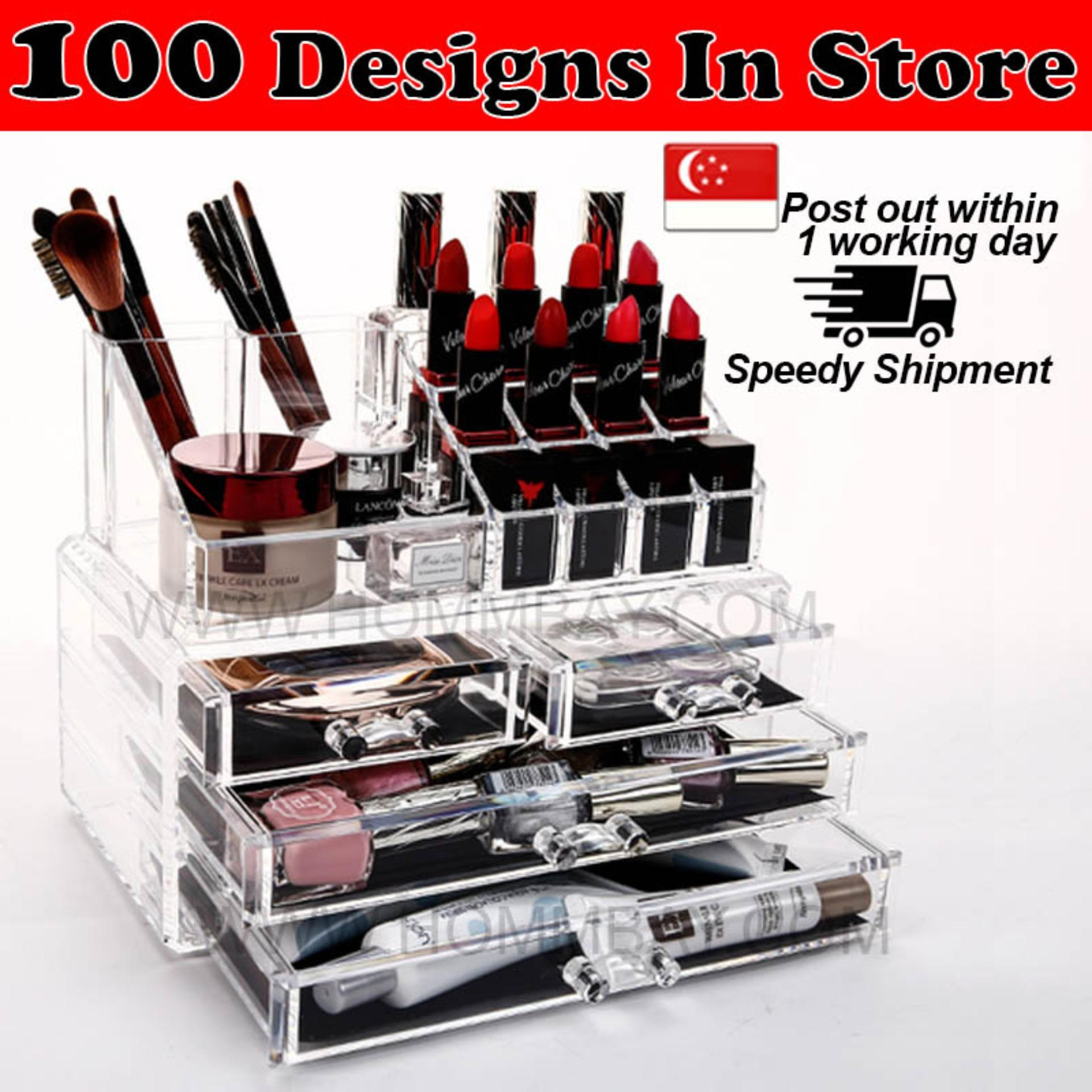 Discounted Large Acrylic Make Up Makeup Cosmetic Organiser Organizer Storage Box Holder
