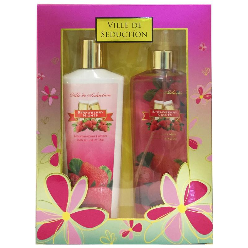 Buy STRAWBERRY NIGHTS VILLE DE SEDUCTION GIFT SET 240ML EACH Singapore
