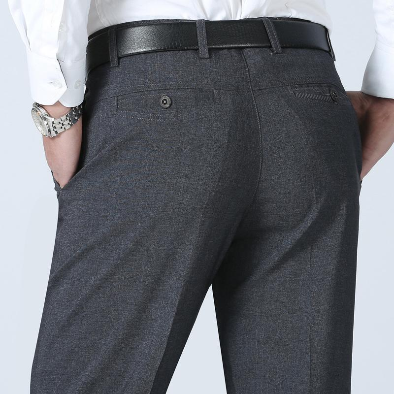 9279e7ebdf2 Summer Thin Middle-aged Men s Straight-type Casual Pants Men s Business Trousers  Loose Free