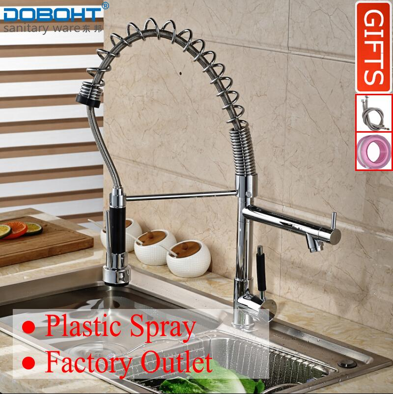 Where To Shop For Doboht Spring Pull Out Spray Swivel Kitchen Sink Wash Hot And Cold Single Handle Kitchen Faucet Tap Chrome Intl