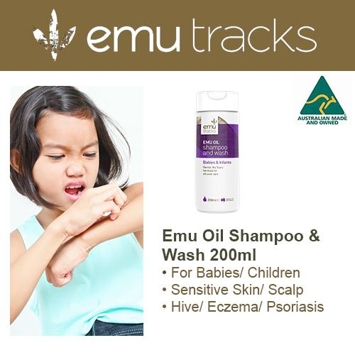 Emu Tracks Emu Oil Shampoo Wash Suitable For Babies Adults 200Ml Cheap