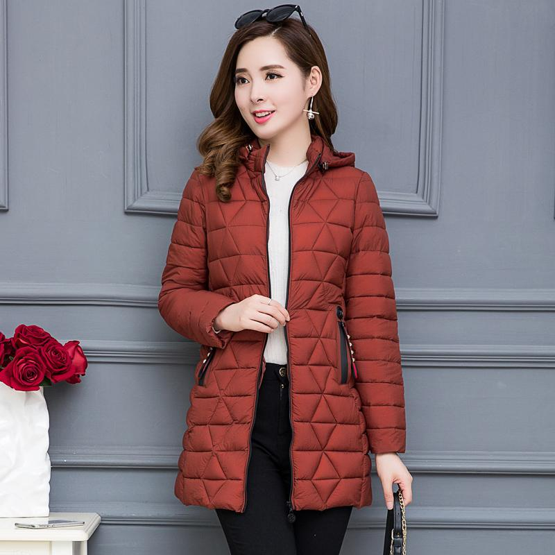 6dc51ee5b5bb2 New Style Winter Cotton-padded Clothes women Mid-length Korean Style Slim  Fit down Jacket Cotton-padded Clothes Slimming Large Size Middle-aged Women  ...