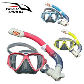 ซื้อดีที่สุด LB Children Full Dry Silicone Explosion Proof Lens Diving Mask Snorkel Set + Special Snorkeling Tube Equipment Specification:For 3-15 years old ...