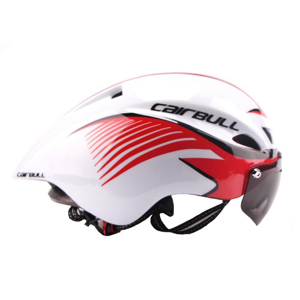 Qimiao Ultralight Cycling Helmet Road Bike Bicycle TT Goggles Aerodynamic Helmet for Motorcycle Bike Riding