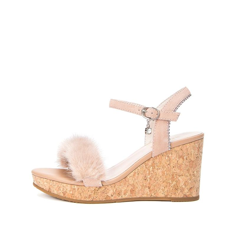 Hotwind Sandal Summer Sederhana dan Elegan Musim Panas Sandal Summer Casual Horizontal