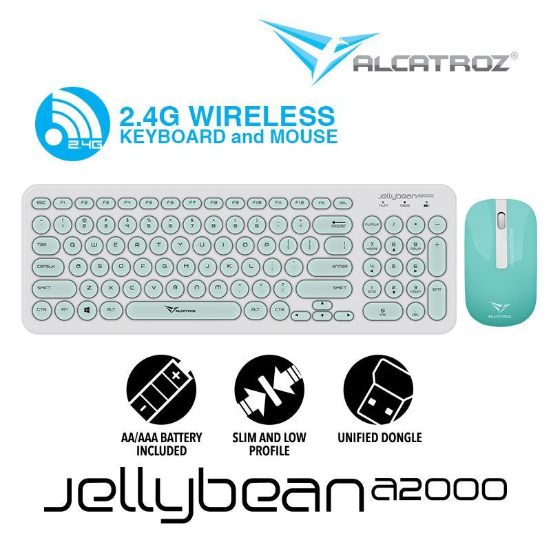 Alcatroz 2.4G Wireless Keyboard and Mouse combo JellyBean A2000 Singapore