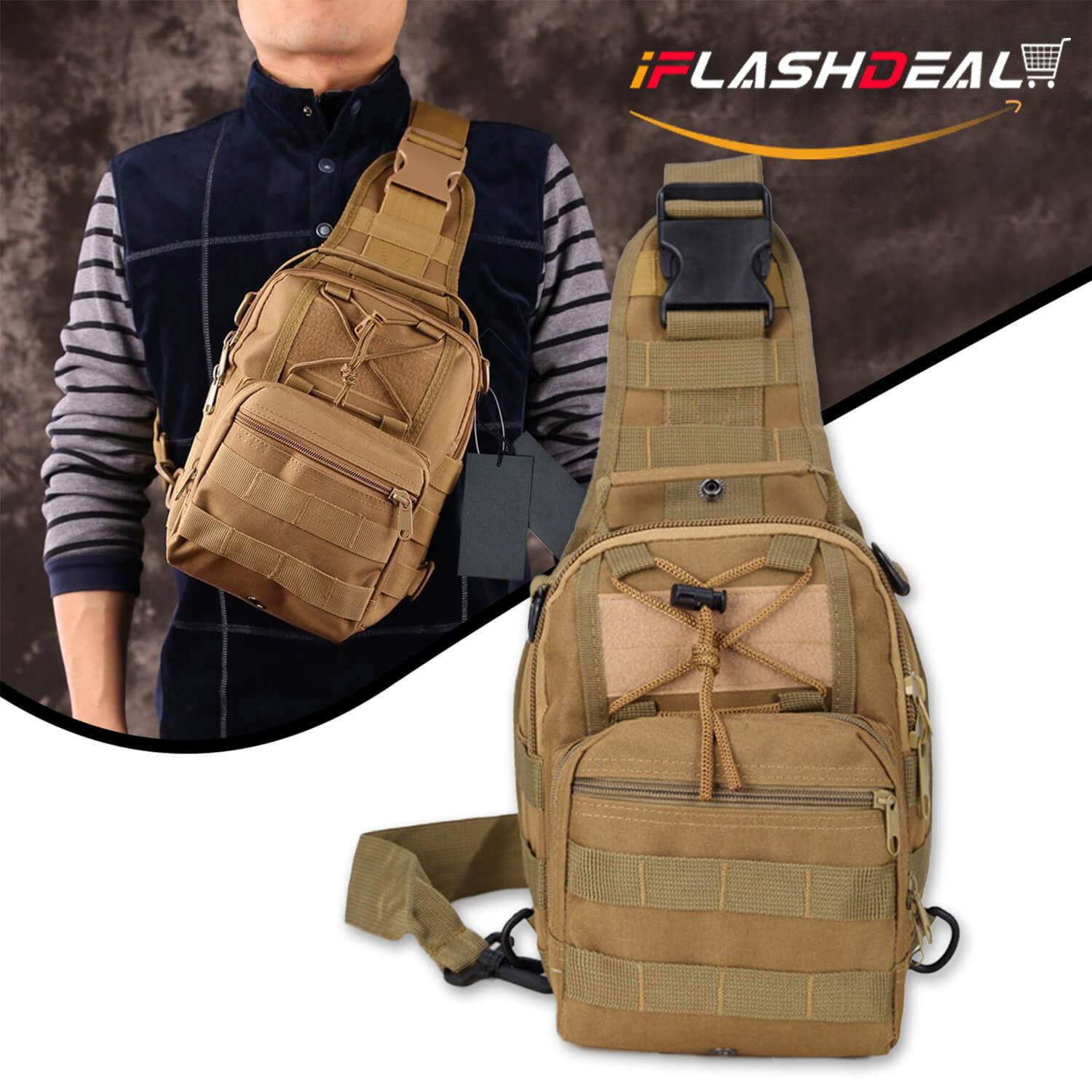 505a1413c505 iFlashDeal Tactical Sling Bag Men Crossbody Bas Outdoor Chest Pack Shoulder  Backpack Military Sport Cross Body