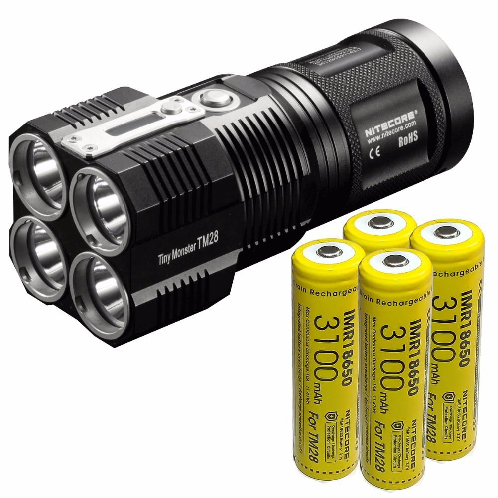 Nitecore Tm28 4 Cree Xhp35 Hi Led 6000Lm Beam Distance 655M Led Tactical Flashlight With Charger For Outdoor Searching Intl Discount Code