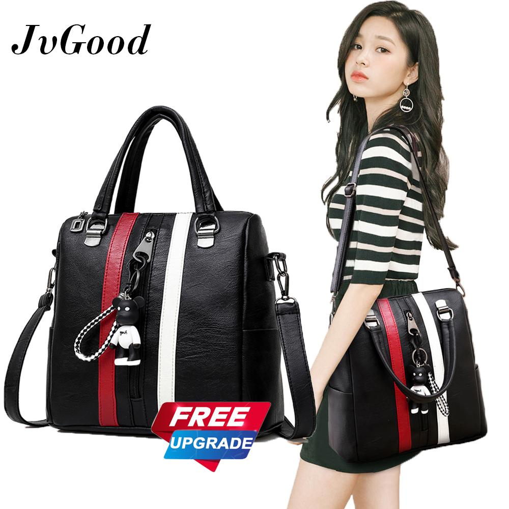 Jvgood Soft Pu Leather Shoulder Bag Backpack Multi Function Handbags Sch**l Bag Tote Shoulder Bag Daypack Purse Women Girls China