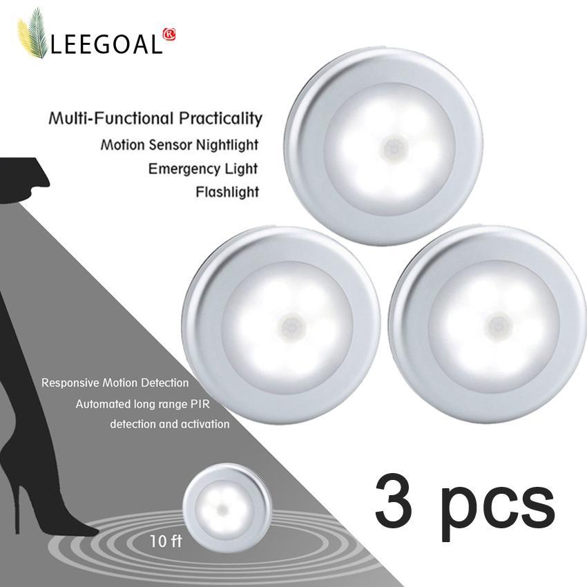 How To Get Leegoal Battery Powered Motion Sensor Light Indoor Battery Operated Led Motion Sensing Night Light 3 Pcs