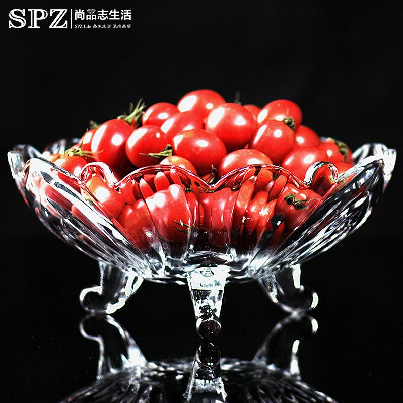Simple Glass Home Crystal Tray Fruit Bowl Price Comparison