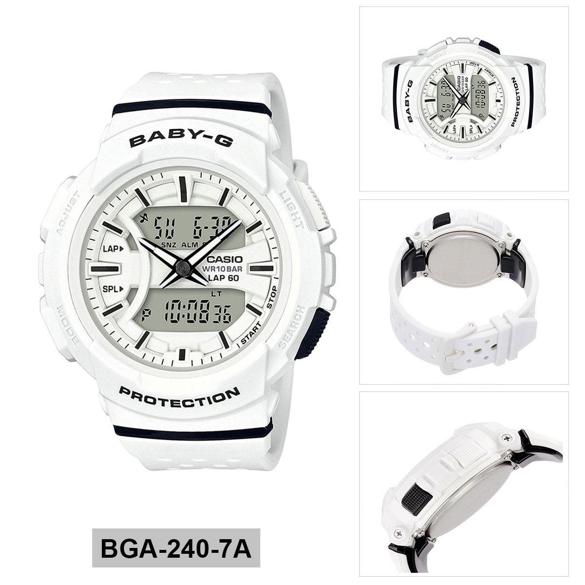 Best Buy Casio Watch Baby G For Running White Resin Case Stainless Steel Bracelet Ladies Bga 240 7A