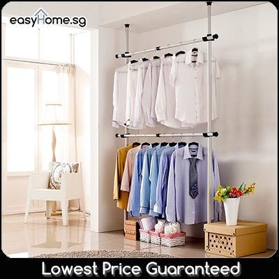 3202 Standing Pole Clothes Rack - Coat Stand Hanger Closet Wardrobe