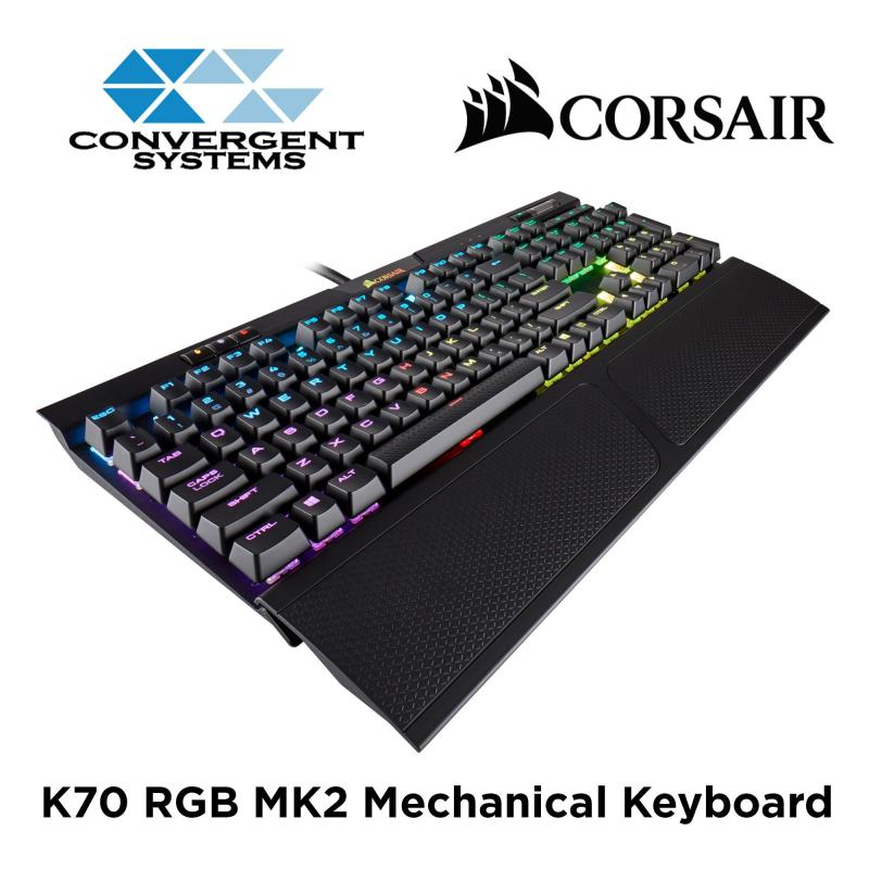 Corsair K70 RGB MK.2 Mechanical Gaming Keyboard - Cherry MX Blue RGB Singapore