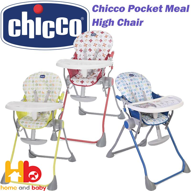 Chicco Pocket Meal High Chair 3 Colour Available