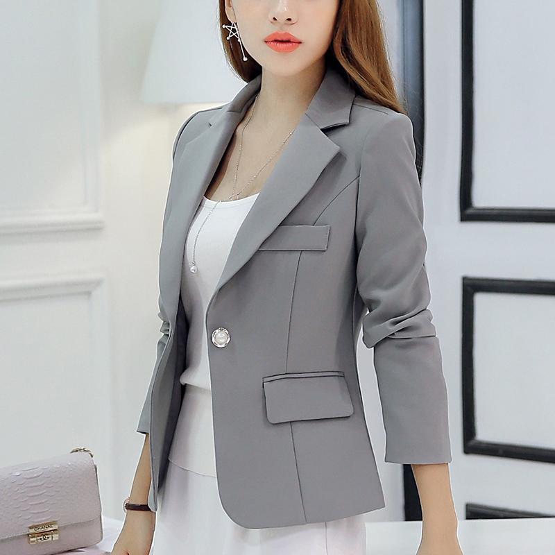 53c83b3c98b92 Caidaifei Korean Slim fit Long sleeve slimming nv wai tao women s clothes ( Gray RRR96)