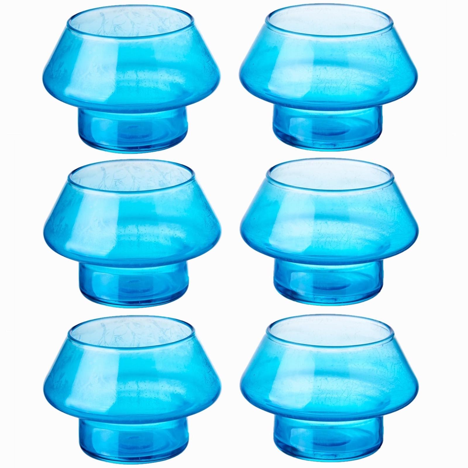 Lamparina Candleholder (Blue) (6pc)