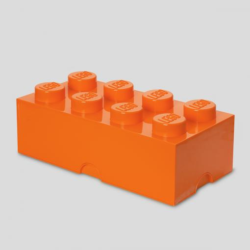 LEGO Storage Brick 8 (Bright Orange)