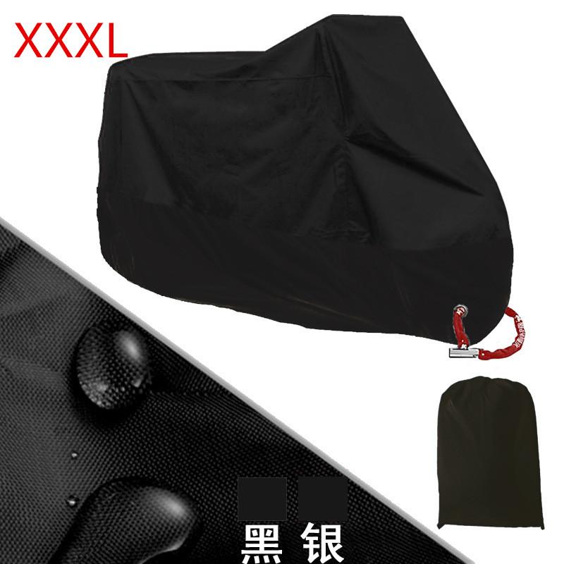 Price Comparisons For Motorcycle Motorbike Waterproof Cover Protector Case Cover Rain Protection Breathable Black Color Xxxl Intl
