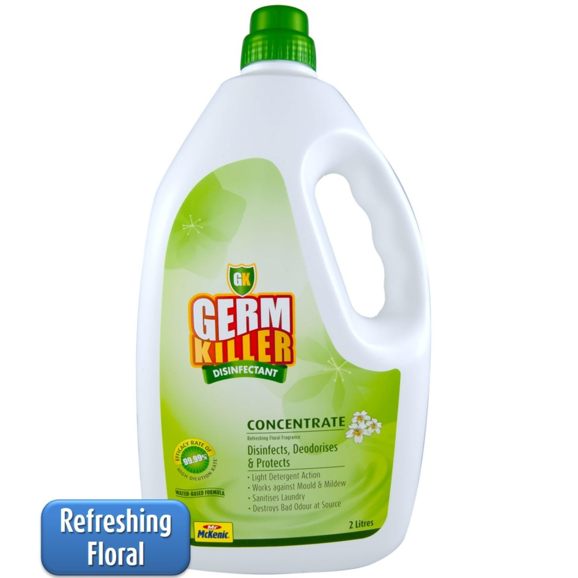 Buy Gk Germkiller Gk Concentrate™ Floral 2L Cleans Protects You And Your Loved Ones From Harmful Germs High Dilution Rate For Use At Home And For Laundry Green Label Product Foodsafe Refreshing Floral Fragrance Gk Germkiller