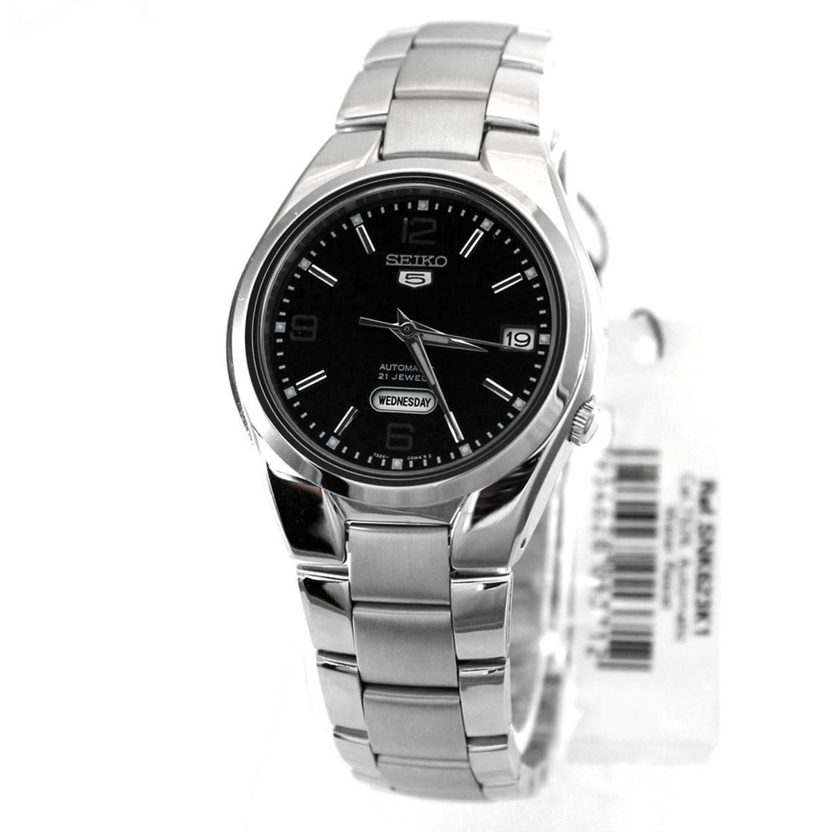 Seiko Seiko 5 Automatic Silver Stainless Steel Case Stainless Steel Bracelet Mens Snk623K1 Shop