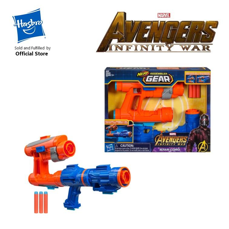 Great Deal Hasbro Marvel Avengers Infinity War Nerf Star Lord Assembler Gear E0604