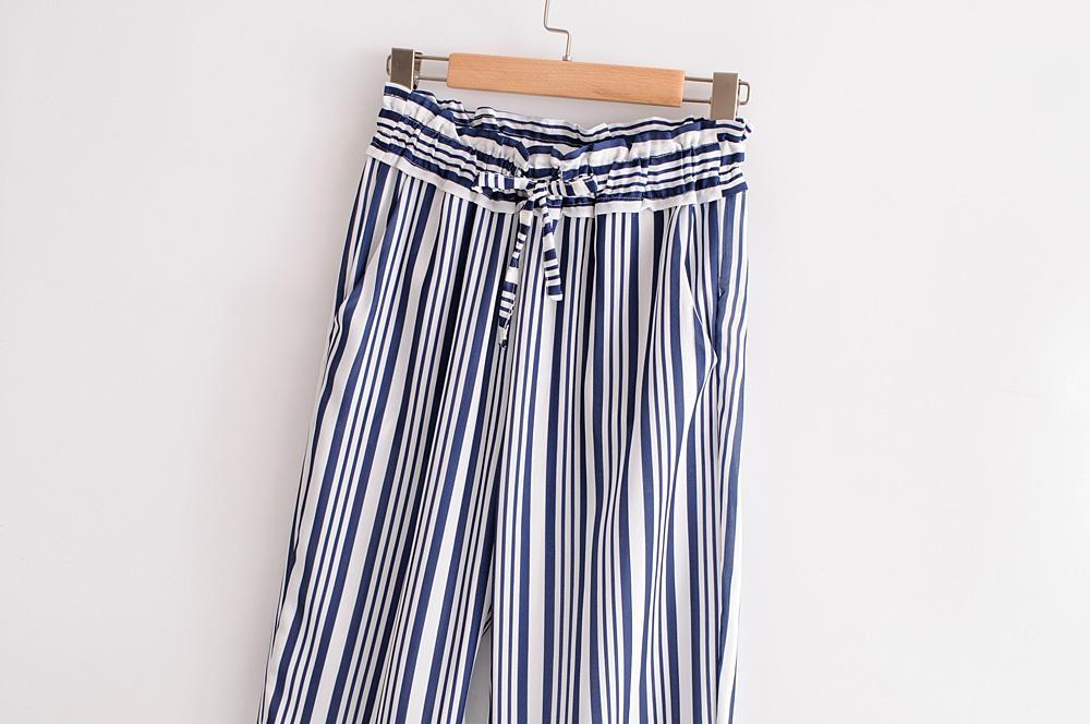 Detail Gambar ZA Kantong Kertas Celana Eropa dan Amerika Baru Pakaian Wanita Pinggang Elastis Terbaru