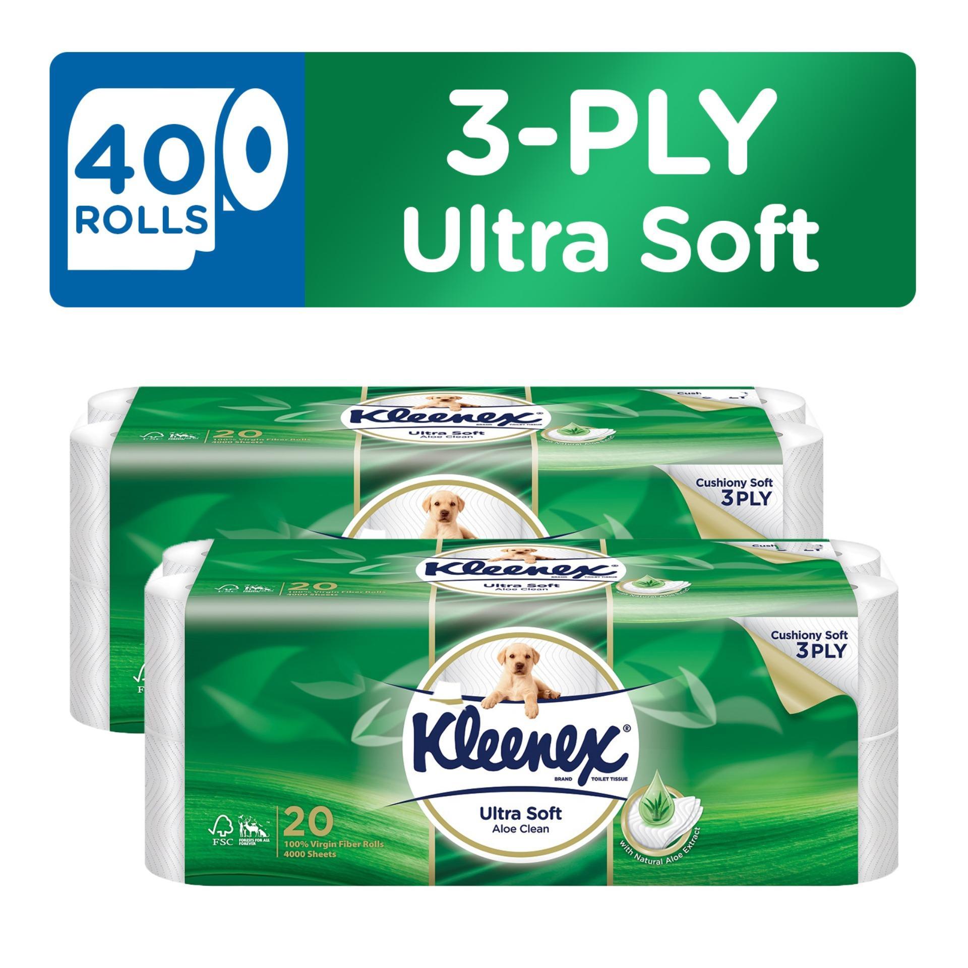 Sale Kleenex Clean Care Bath Tissue Aloe Vera 20X200Sheets X 2 Kleenex
