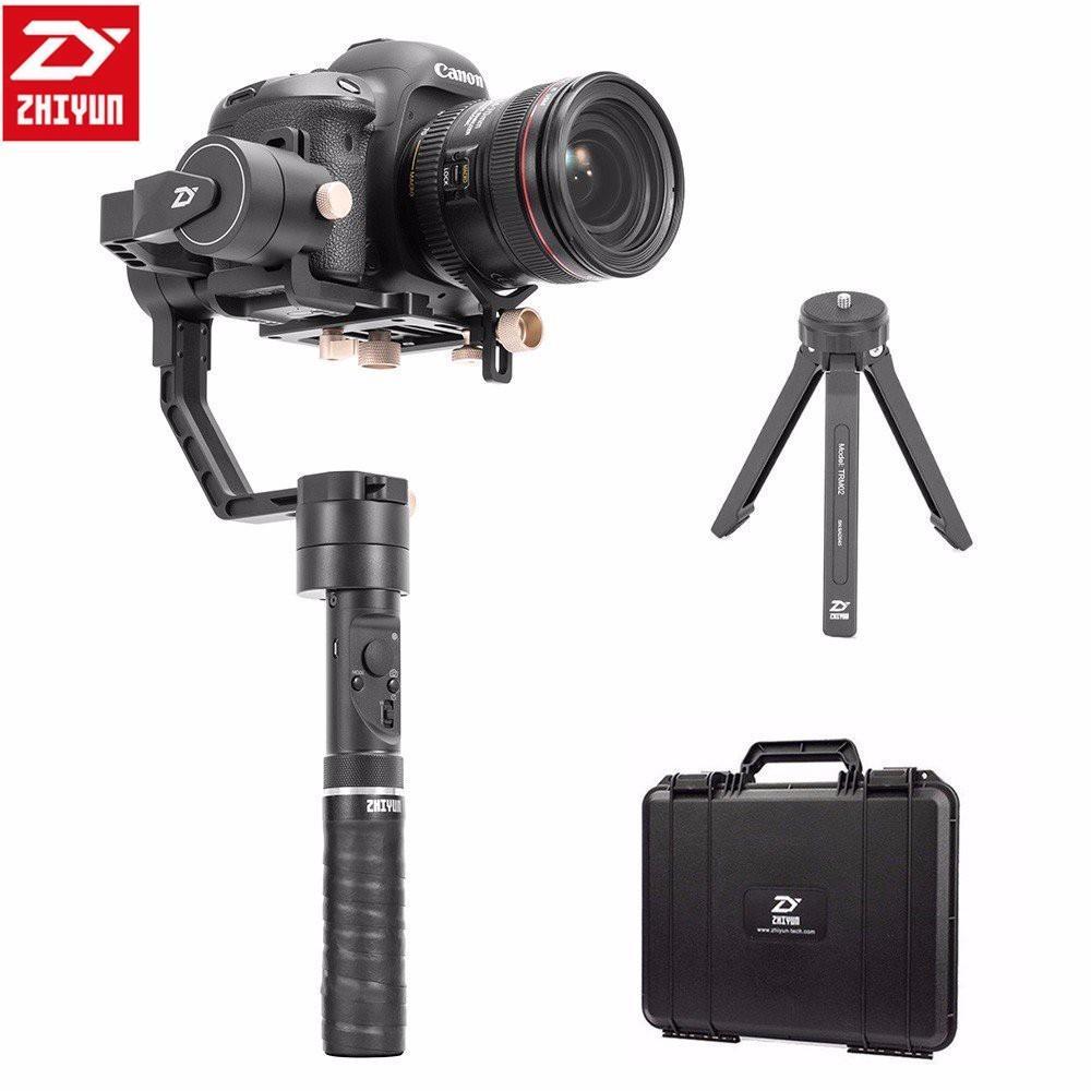 Zhiyun CRANE Ditambah 3 AXIS Handheld Stabilizer Gimbal Kamera Video DSLR Steadicam untuk Sony Canon 5D Kamera Mirrorless