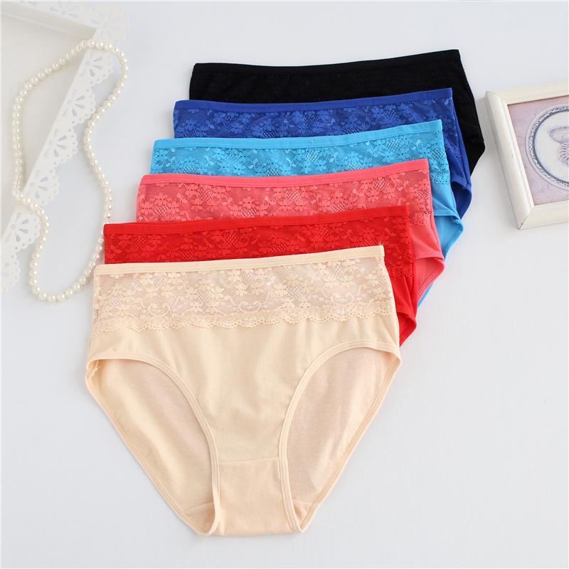 7f7a6e55e4b 6pcs/lot Mid Waist Plus Size XXL 3XL 4XL 5XL Women Cotton Underwear Big Size