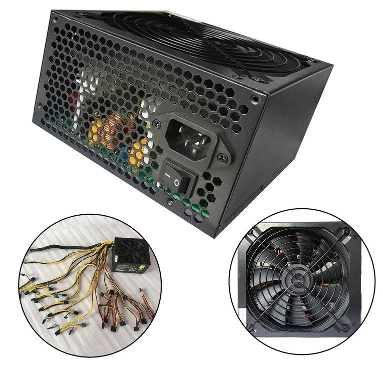 Price Hzts 1600W Power Supply For 6 Gpu Eth Rig Ethereum Coin Mining Machine Black Osmanthus China