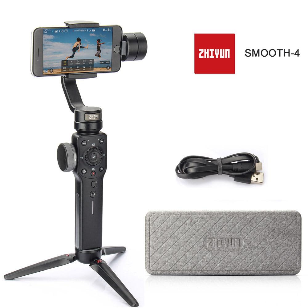 Zhiyun Halus 4 3-Axis Ponsel Cerdas Genggam Stabilizer Gimbal Vs Zhiyun Halus Model Q untuk iPhone X 8 Plus 8 7 6 S Samsung s9 S8 S7